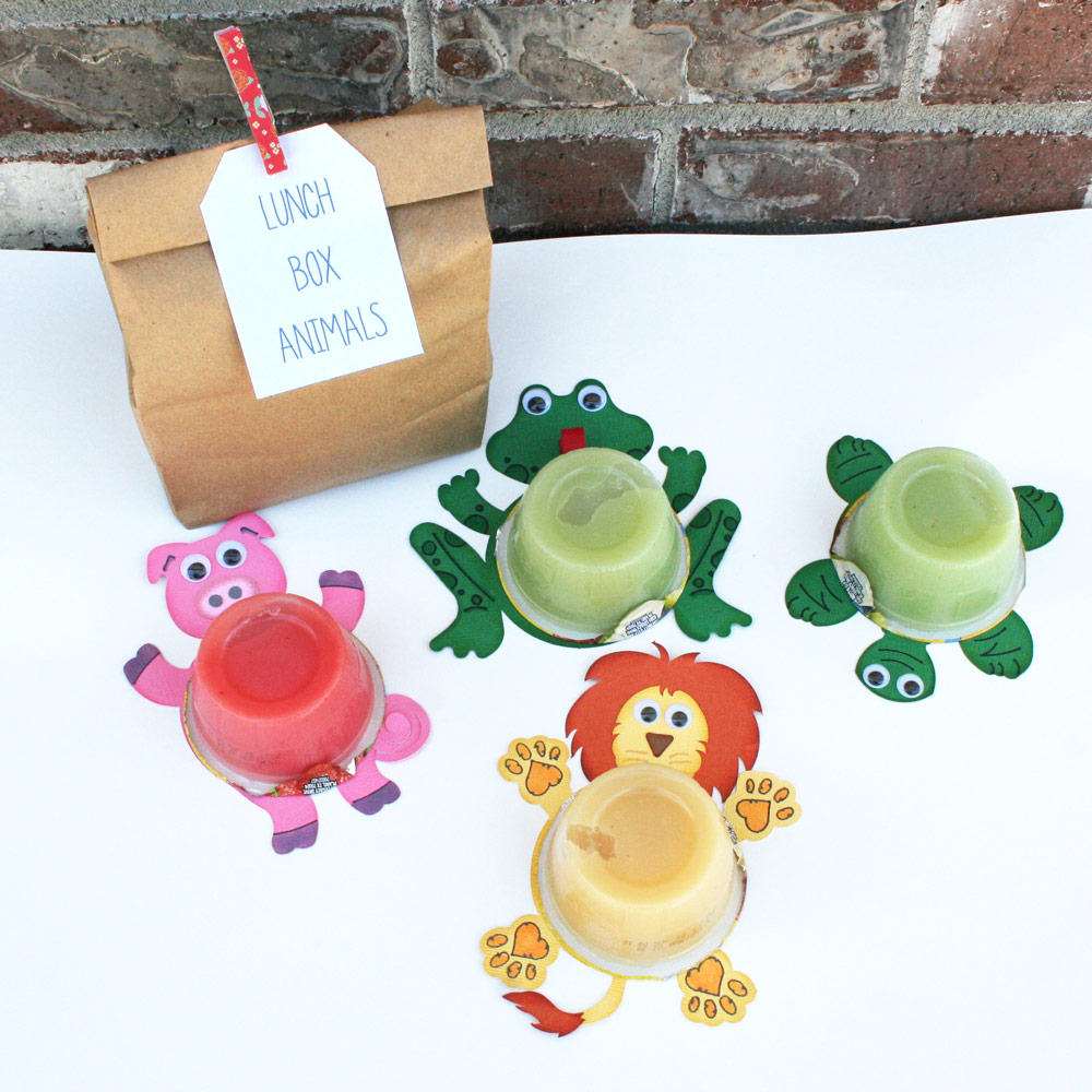 Applesauce Animals Lunchbox Treat with SVG cutting files