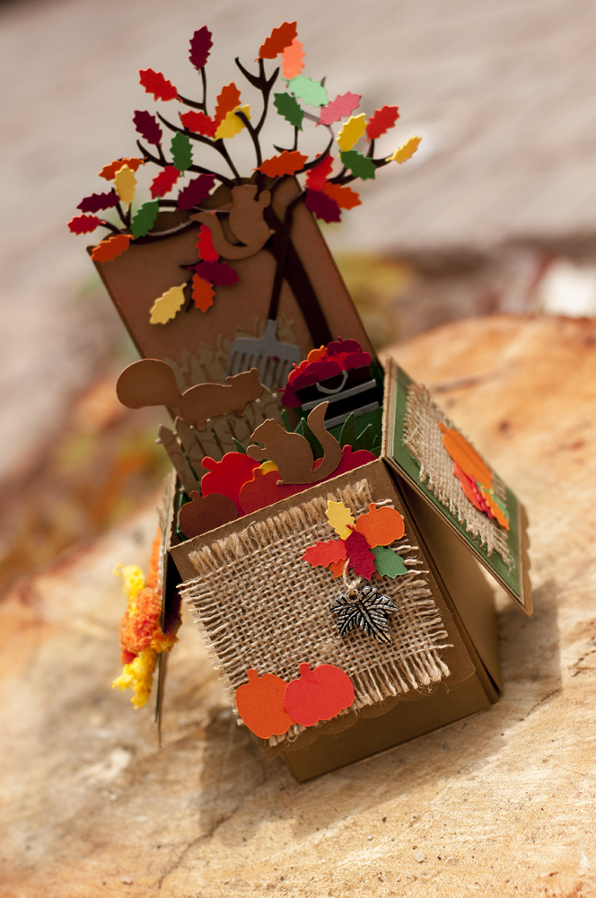 Autumn Pop Up Box Pazzles Craft Room