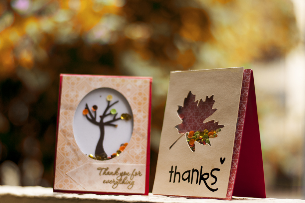 Autumn Shaker Cards