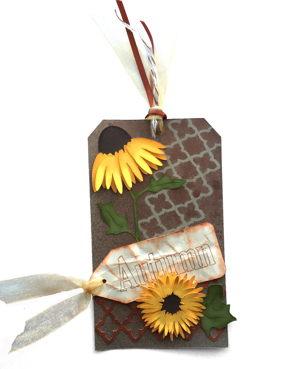 Autumn Sunflower Tag