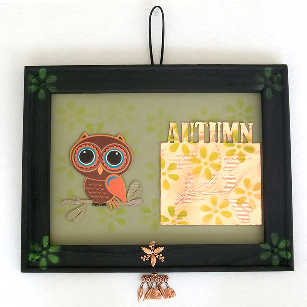 Autumn Wall Hanging with Miss Kate Cuttabales Owl and Pazzles Engraving Tooll