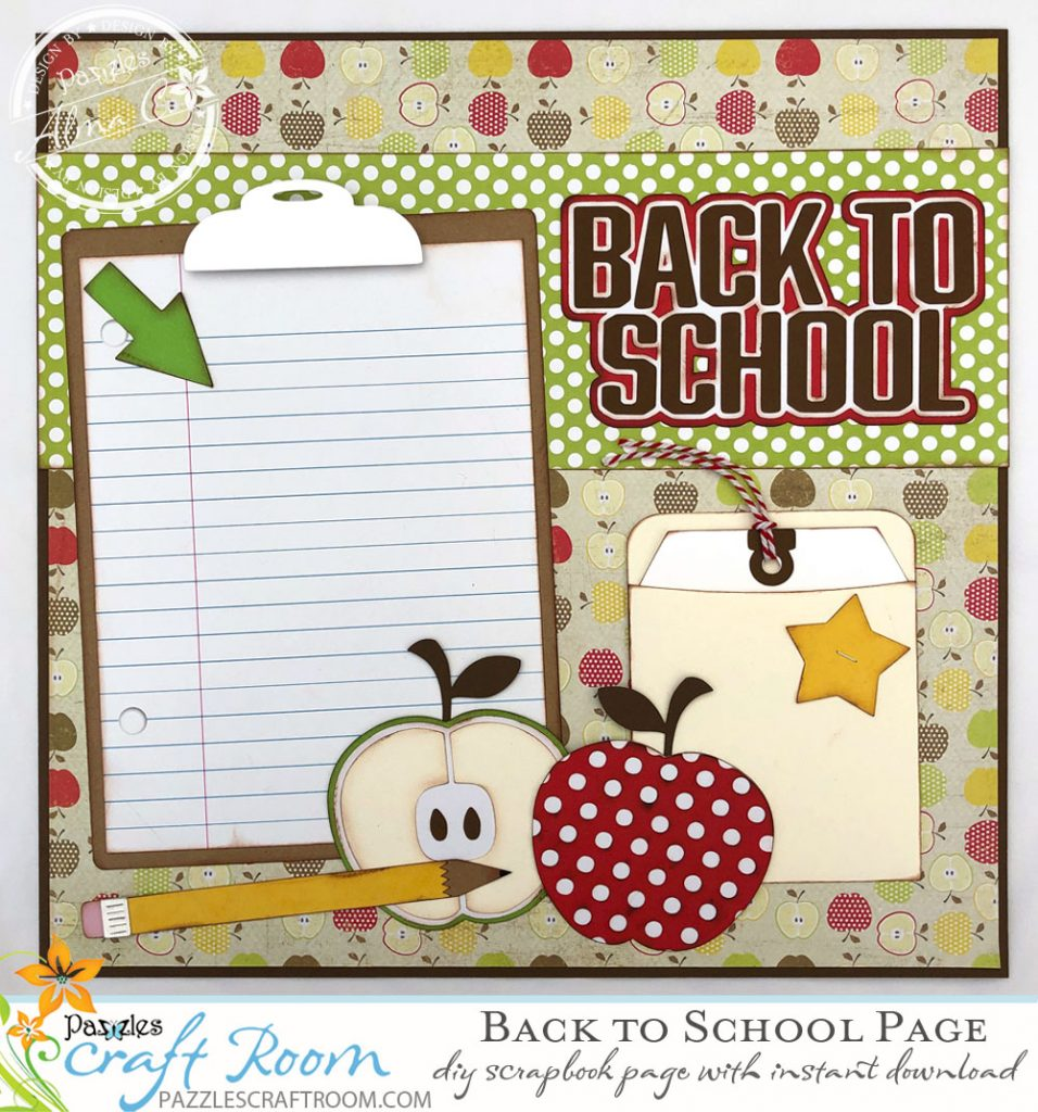 Scrapbook Back to School Layout - Instant SVG Download