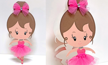 Pazzles DIY Ballerina Card with instant SVG download. Compatible with all major electronic cutters including Pazzles Inspiration, Cricut, Silhouette Cameo. Design by Lisa Reyna.