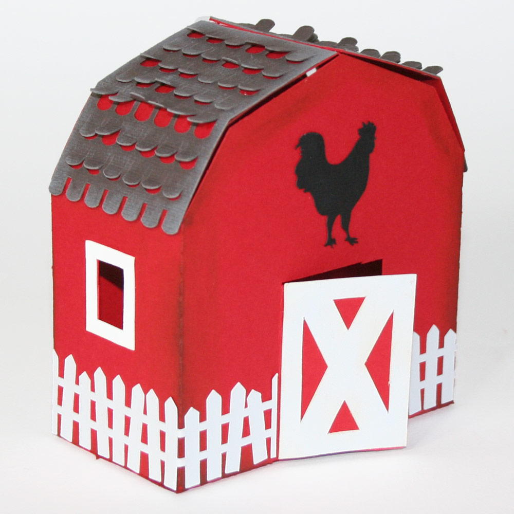Barn Shaped Box And Animal Notecards Pazzles Craft Room