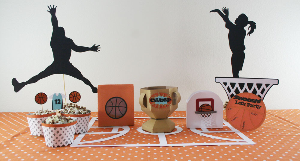 Basketball Party SVG Cut File Set