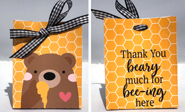 Beary Thankful Favor Bag