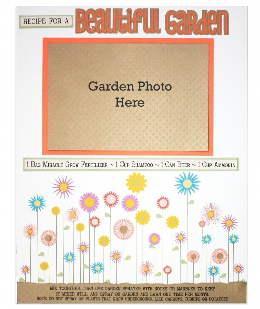 Beautiful Garden Scrapbook Layout