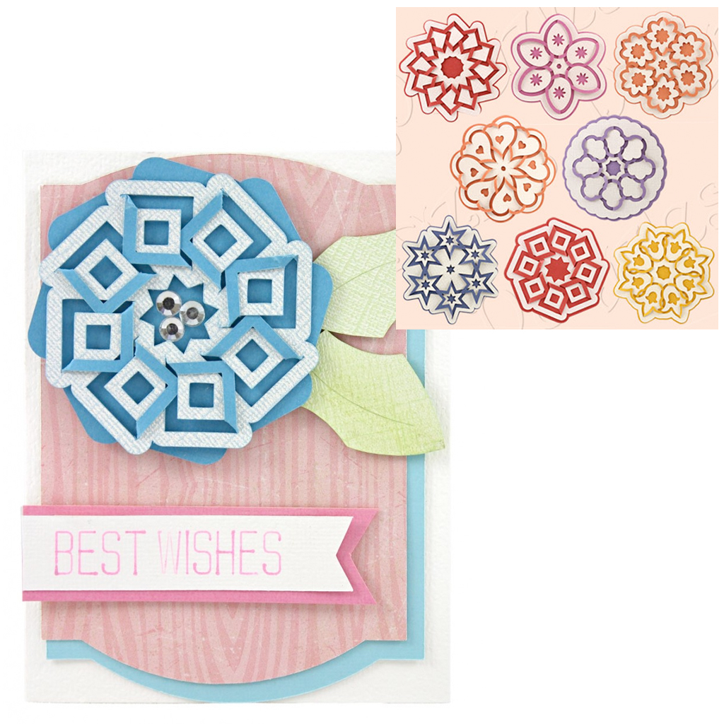 Best Wishes Cut and Fold Medallion