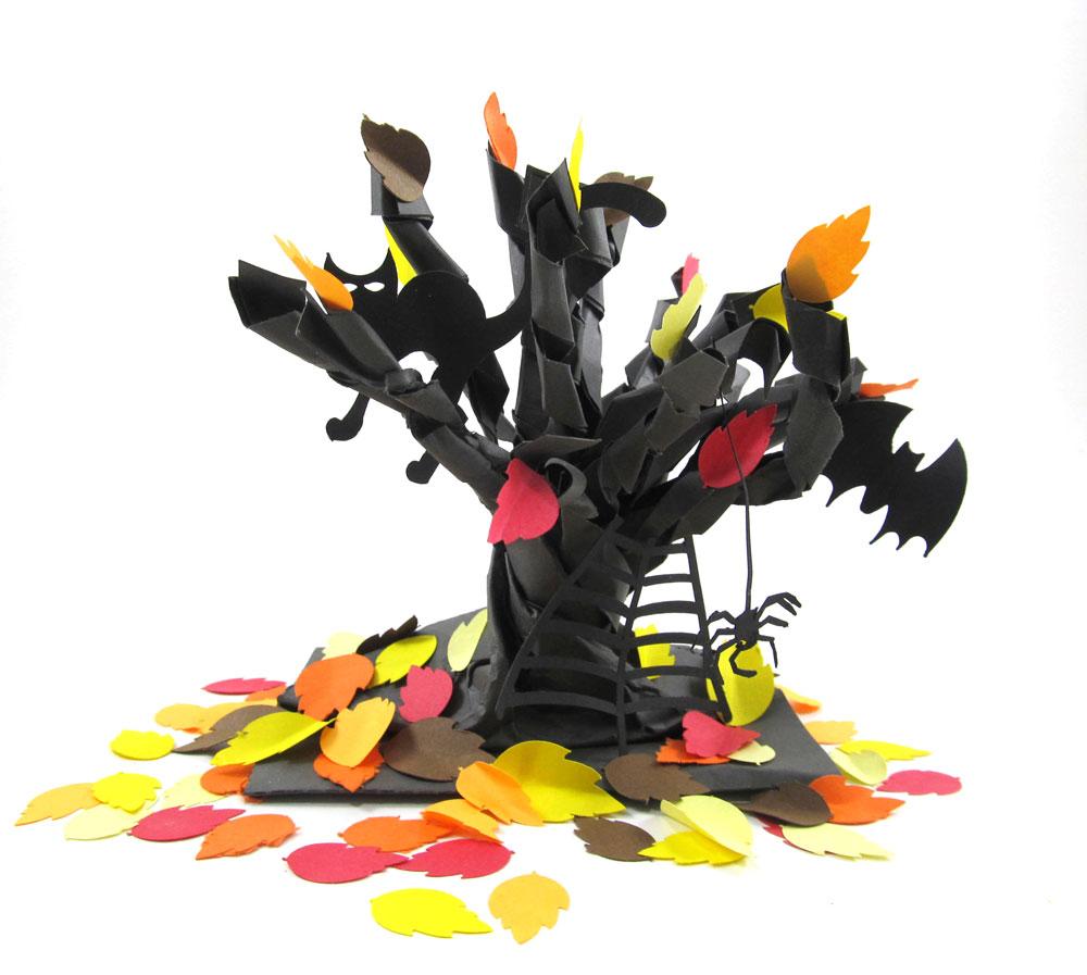 Paper Bag Spooky Tree