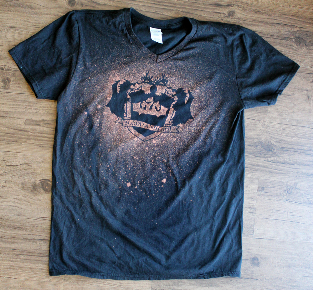 Bleach spray t shirt pazzles craft room for How to bleach at shirt