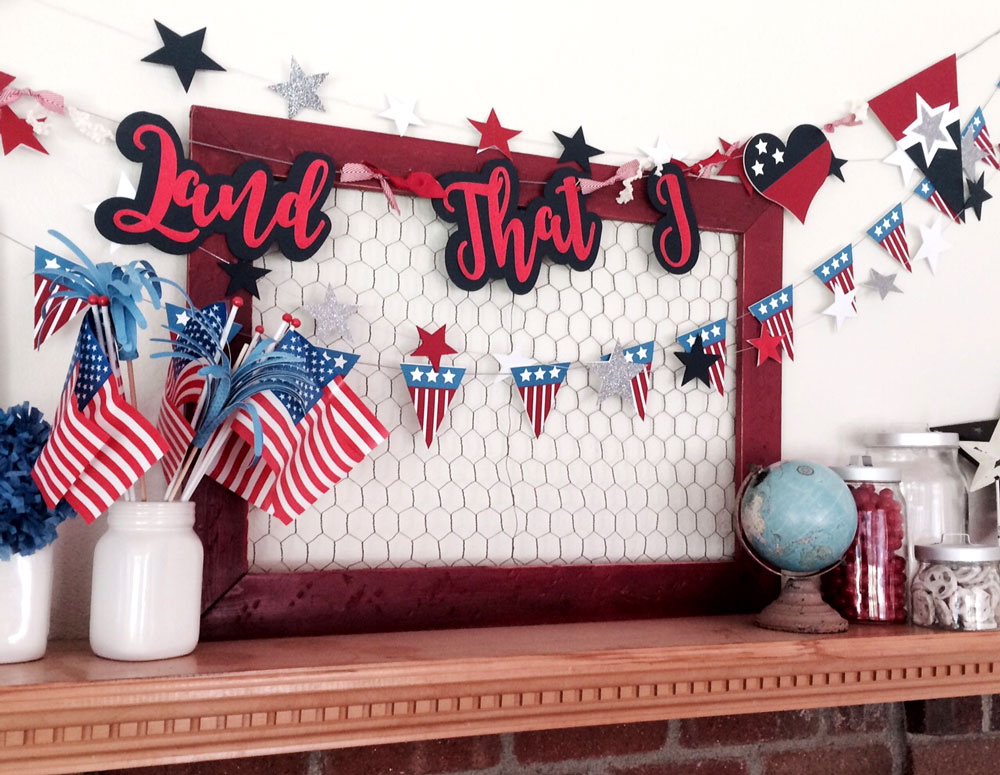 Build Your Own Patriotic Banner with files from Pazzles