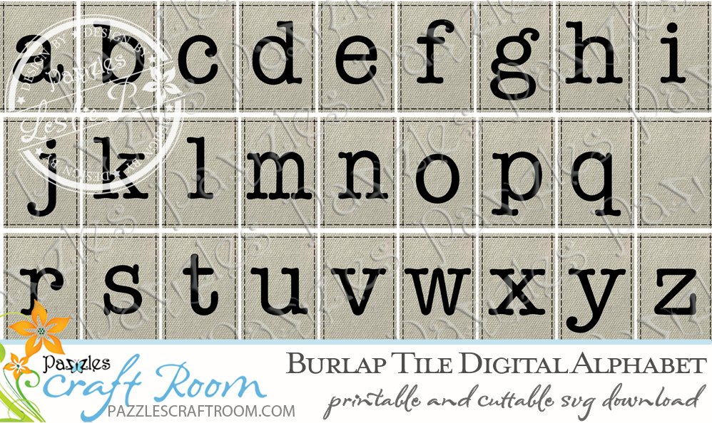 Pazzles DIY Nurse Achievement Canvas and Digital Burlap Alphabet set. SVG instant download compatible with all major electronic cutters including Pazzles Inspiration, Cricut, and Silhouette Cameo. Design by Leslie Peppers.