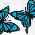 Pazzles DIY Butterfly Earrings with instant SVG download. Compatible with all major electronic cutters including Pazzles Inspiration, Cricut, and Silhouette Cameo. Design by Renee Smart.