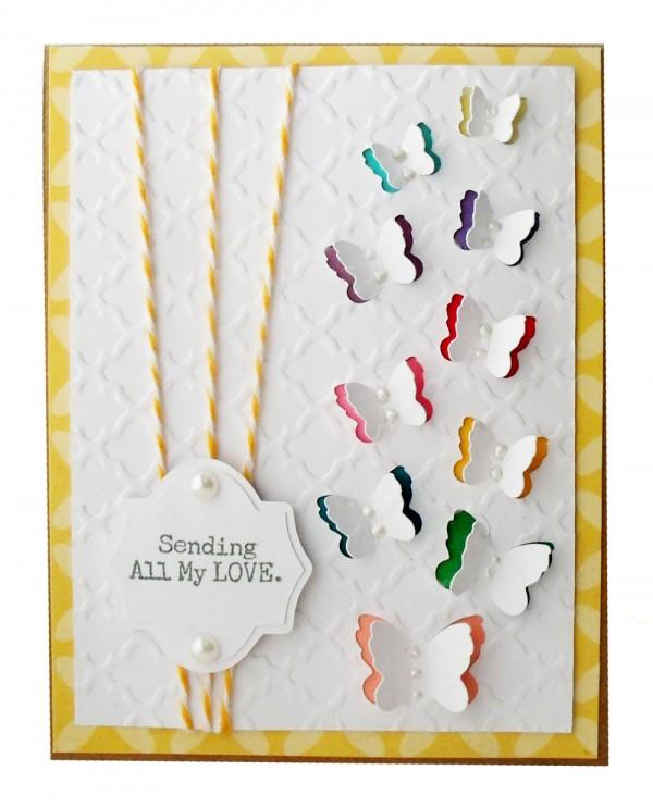 Butterfly Rainbow Card