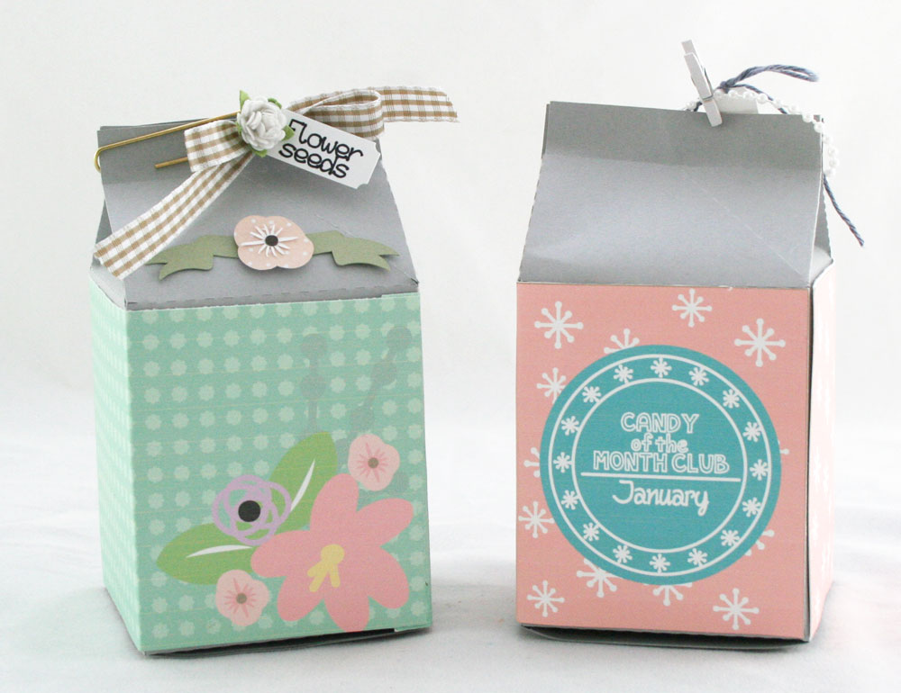 Candy of the Month Milk Carton Printable Wrappers