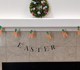 Pazzles DIY Carrot Easter Banner. Instant SVG download compatible with all major electronic cutters including Pazzles Inspiration, Cricut, and Silhouette Cameo. Design by Monica Martinez.
