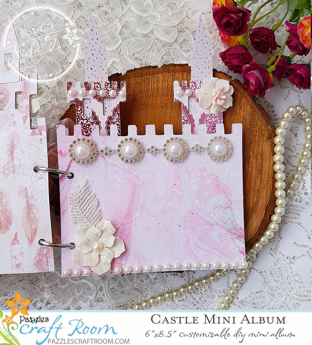 Pazzles DIY Castle Mini Album by Nida Tanweer
