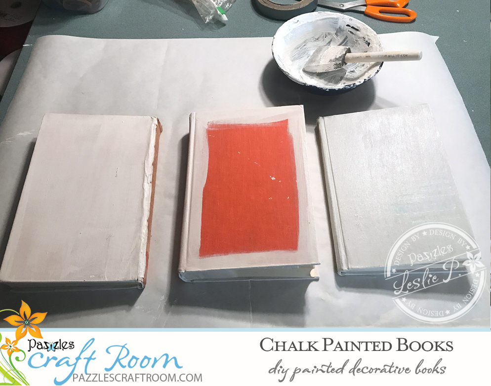 Pazzles DIY Chalk Painted Books with instant SVG download. Compatible with all major electronic cutters including Pazzles Inspiration, Cricut, and Silhouette Cameo. Design by Leslie Peppers.