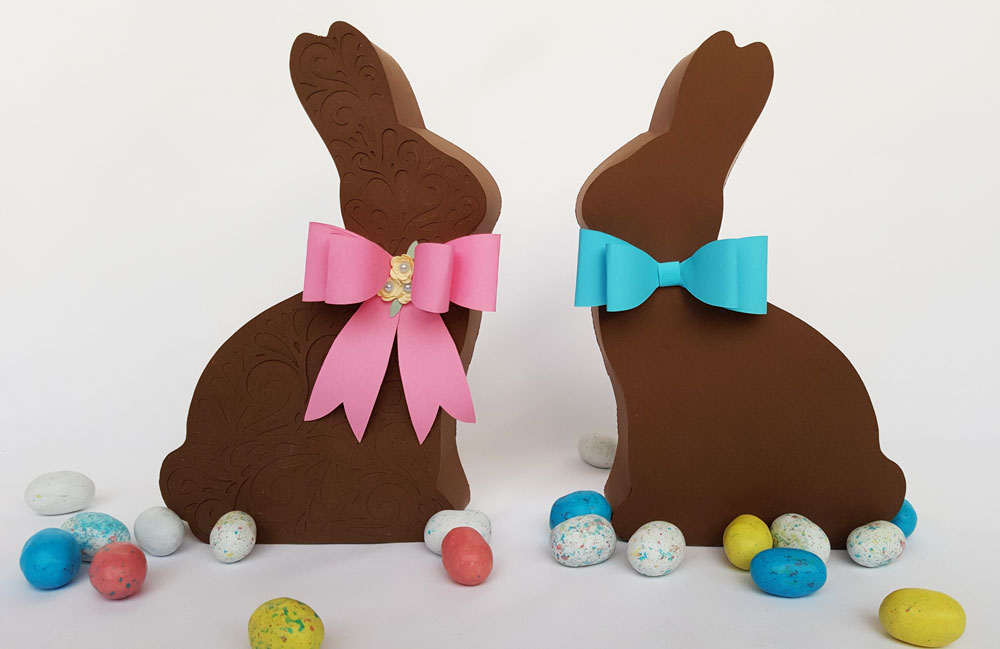 Chocolate Bunny Easter Box Couple