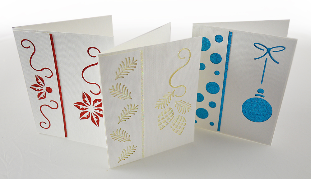 Elegant and Quick Christmas Cards