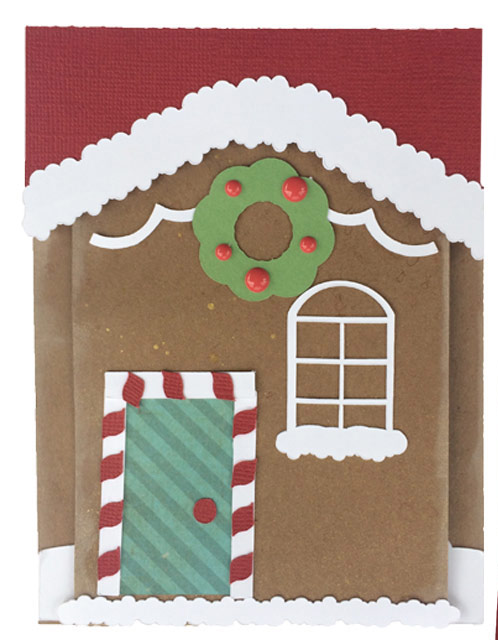 Gingerbread House card from the Pazzles Craft Room