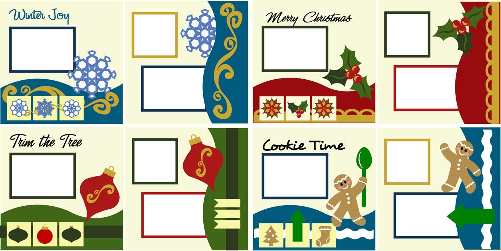 Christmas Memories Scrapbook Layout