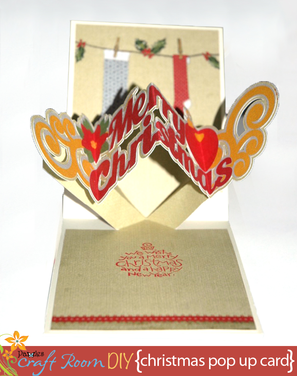 Christmas Pop Up Cards.Pop Up And Twist Christmas Card Pazzles Craft Room