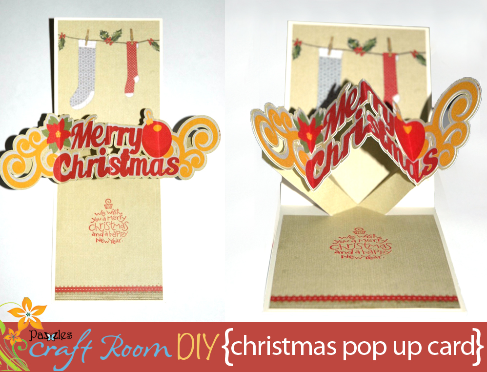 Pop Up and Twist Christmas Card - Pazzles Craft Room