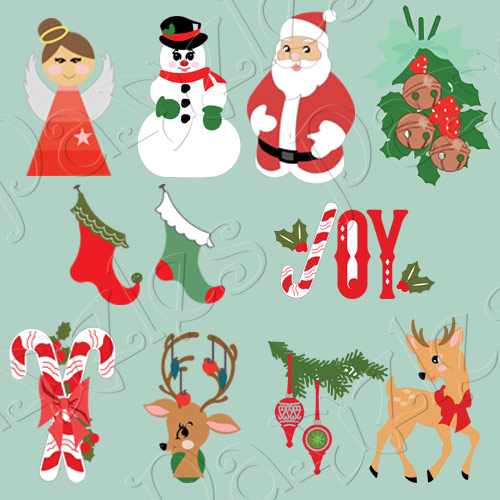Classic Christmas Cutting Collection: Vintage Christmas SVG cutting files