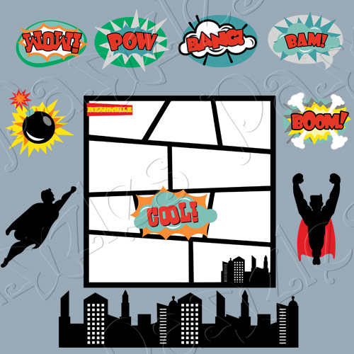 Comic Book SVG Cutting Files