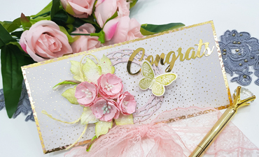 Pazzles DIY Congratulations Envelopes with instant SVG download. Instant SVG download compatible with all major electronic cutters including Pazzles Inspiration, Cricut, and Silhouette Cameo. Design by Nida Tanweer.