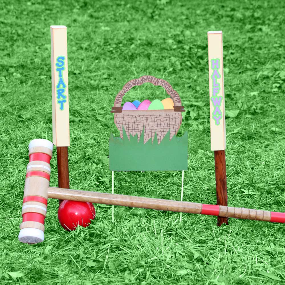 Cottontail Croquet wicket basket