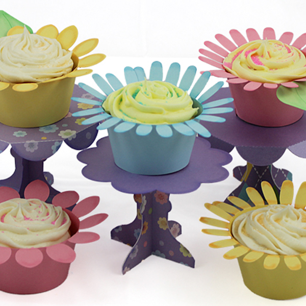 Cupcake Wrappers and Pedestal