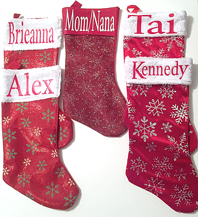Customized stocking made with the Pazzles Inspiration Vue