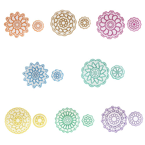 Cut and Fold Medallions 2 cutting Collection. Paper folding for elegant card making.