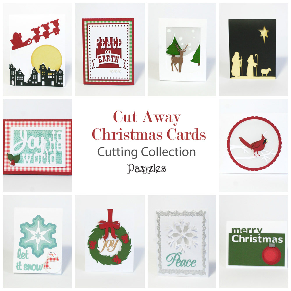 Cut Away Christmas Cards