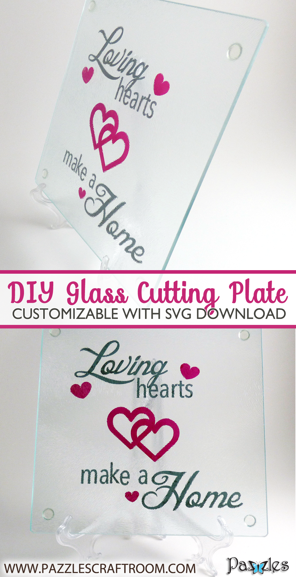 Pazzles DIY Cutting Plate with SVG instant download. Compatible with all major electronic cutters including Pazzles Inspiration, Cricut, and Silhouette Cameo.