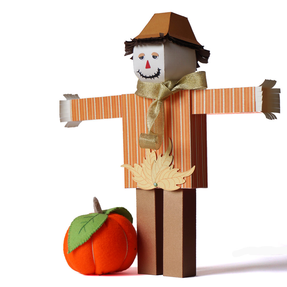 Dimensional Paper Scarecrow