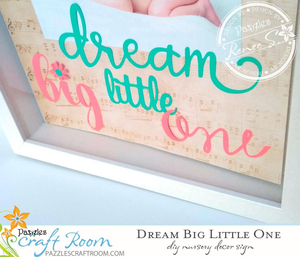 Pazzles DIY Nursery Sign by Renee Smart