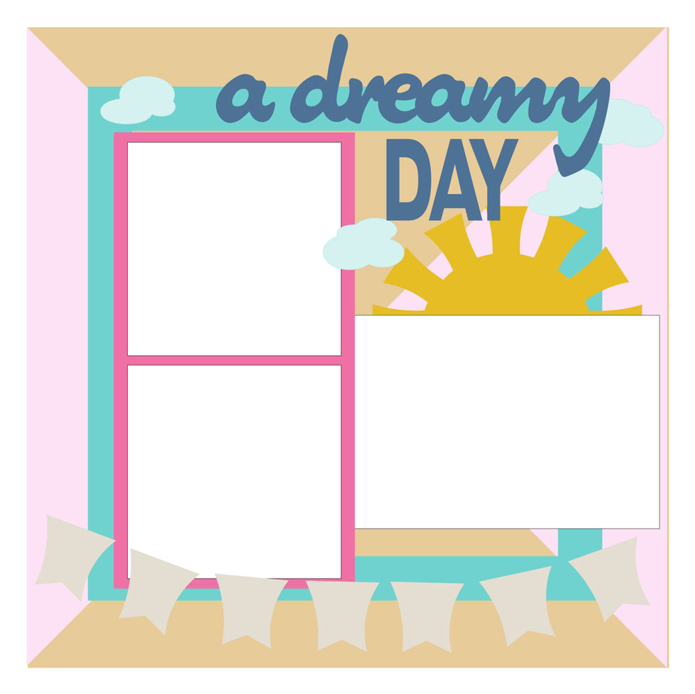 Drreamy day free scrapbook layout sketch