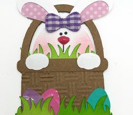Pazzles DIY Easter Bunny Planner Clip with instant SVG download. Compatible with all major electronic cutters including Pazzles Inspiration, Cricut, and Silhouette Cameo. Design by Alma Cervantes.