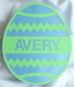 Easter Egg Shaped Box