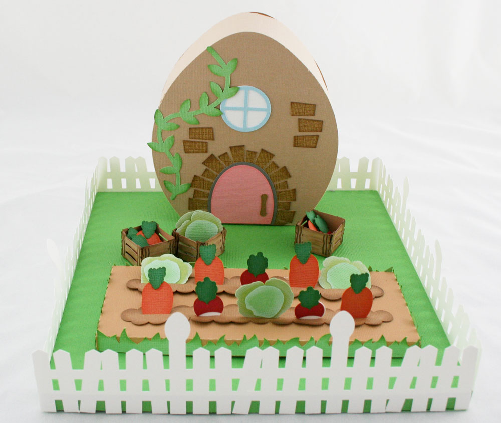 Easter Egg Village Garden Cottage