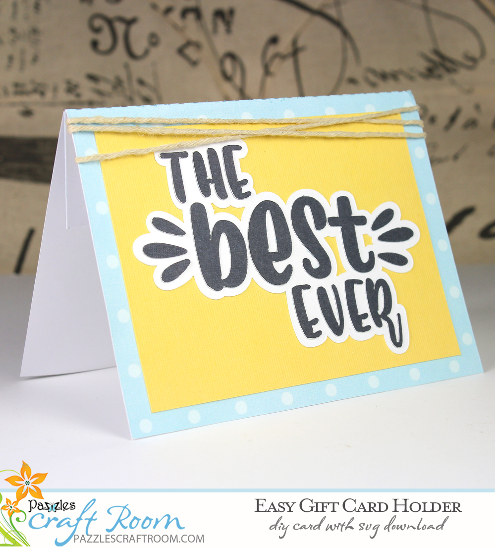Pazzles DIY Easy Gift Card Holder. Instant SVG download compatible with all major electronic cutters including Pazzles Inspiration, Cricut, and Silhouette Cameo. Design by Amanda Vander Woude.