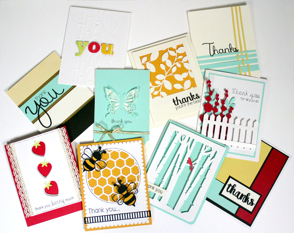 Easy Thank You Cards