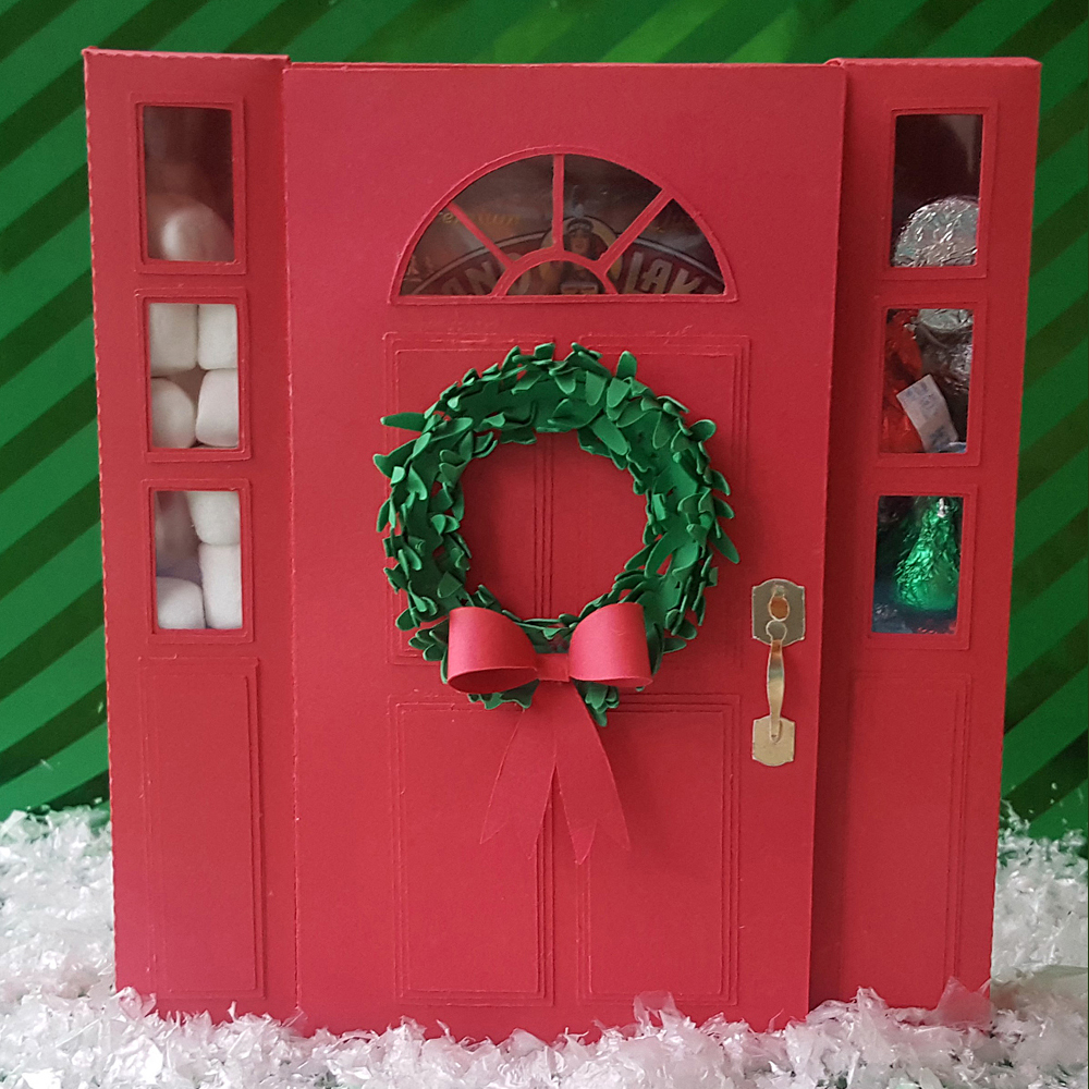 Christmas Front Door cut with the Pazzles Inspiration Vue
