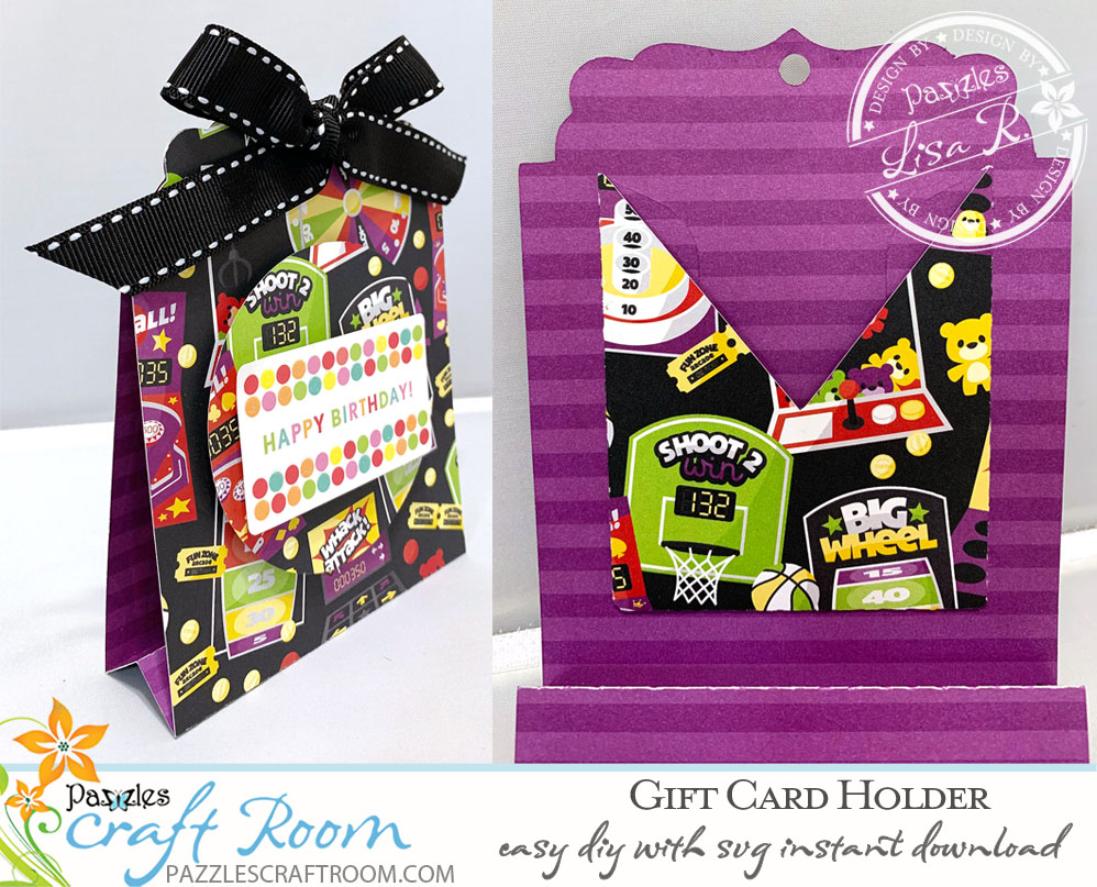 Pazzles DIY Birthday Gift Card Holder by Lisa Reyna