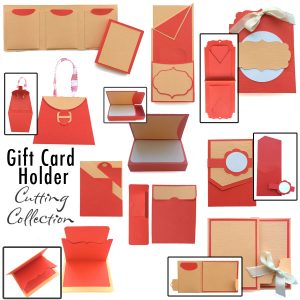 Gift card cutting collection in WPC and SVG from Pazzles