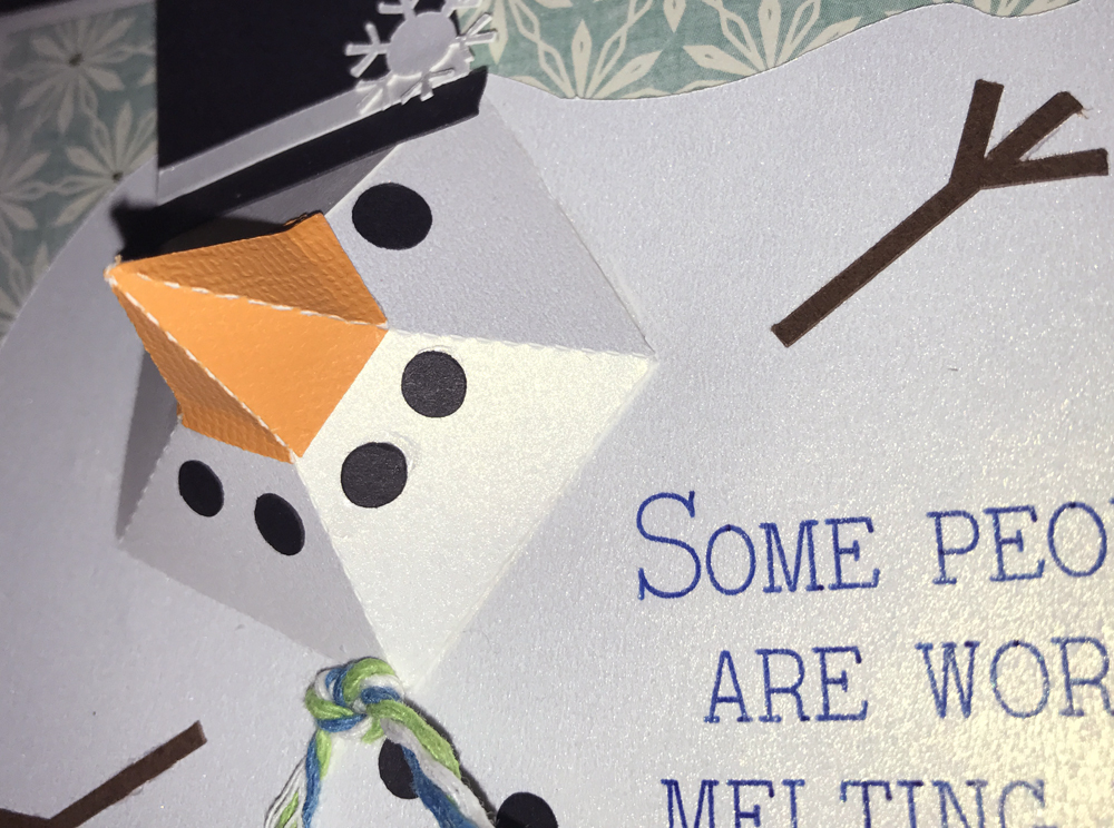 Melting Snowman Card made with the Pazzles Inspiration Vue - SVG file available!