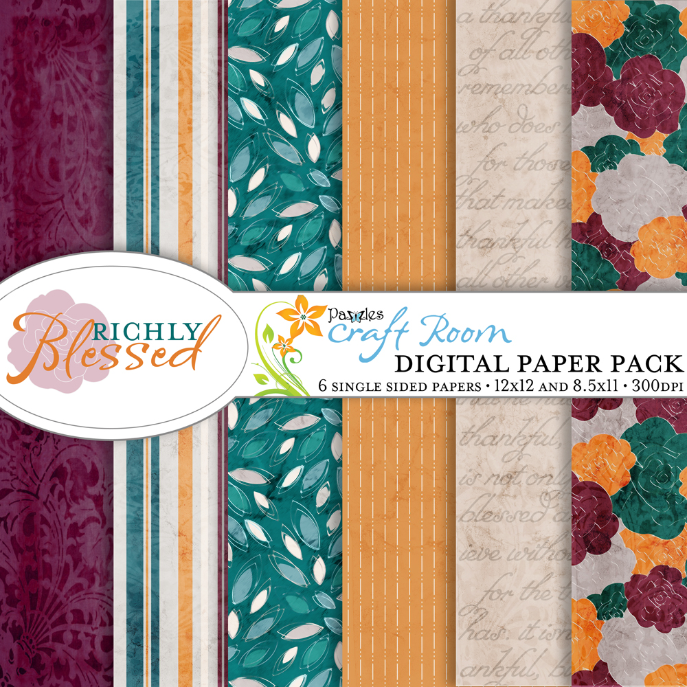 Pazzles DIY printable Thanksgiving or Fall Digital Paper Collection with instant download by Amanda Vander Woude